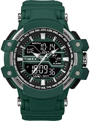 Timex Men's TW5M22800 DGTL 53mm Big Combo Marine Green/Nrgative Resin Strap Watch