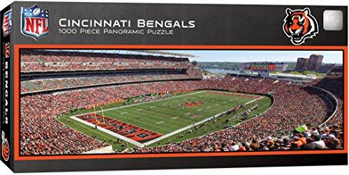 MasterPieces NFL Cincinnati Bengals 1000 Piece Stadium Panoramic Jigsaw - Stores Discount Cincinnati