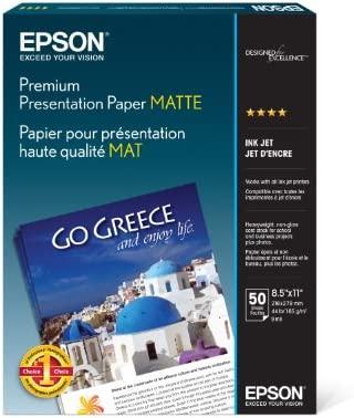 "EPSON MATTE HEAVYWEIGHT PHOTO PAPER 8.5/"" x 11/"" S041257 50 SHEETS NEW"