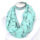 Promini Women Fashionable Chollima Animal Pattern Soft Collar Loop Infinity Scarf