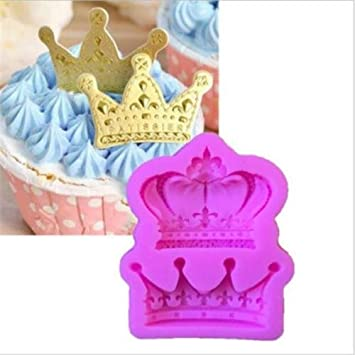 Cake mold-nacola corona rey Reina suave alfombrilla de molde de silicona Fondant decoración de pasteles diseño de cupcake: Amazon.es: Hogar