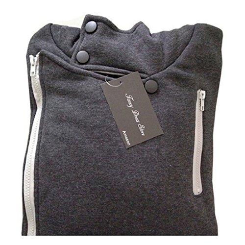 Men's Fashion Oblique Zipper Casual Top Slim Fit Jacket, Large,DarkGray