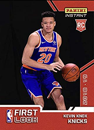 2018 KEVIN KNOX NEW YORK KNICKS NBA FIRST LOOK PANINI INSTANT ROOKIE  BASKETBALL CARD  FL 176fb97a5