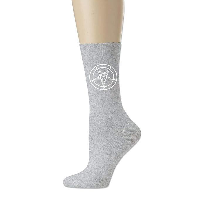 SYDIYIWL Calcetines de compresión Satanás con símbolo de ...