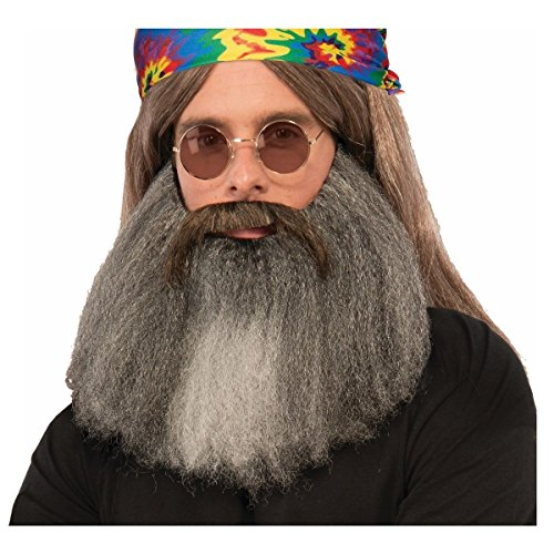 Hippie Beard & Moustache Set Costume Accessory Adult Halloween (Costume Ideas For Men With Beards)