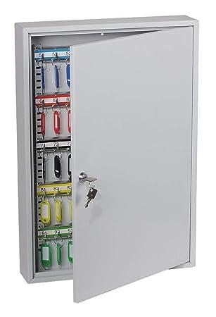 PHOENIX KC0603K Gris Caja portallaves y Organizador - Armario para Llaves (Gris, 100 Colgador(es), Llave, 380 x 80 x 550 mm)