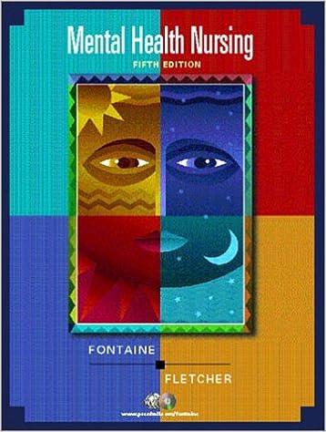 Mental Health Nursing 5th Edition 9780130979926 Medicine