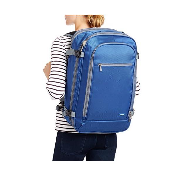 AmazonBasics - Zaino da viaggio/bagaglio a mano, Blu navy - 50L 3 spesavip