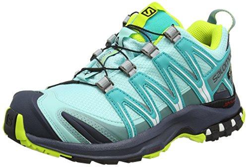 Salomon Xa Pro 3D Gtx W, Zapatillas de Trail Running para Mujer Azul (Aruba Blue/Ombre Blue/Lime Punch)