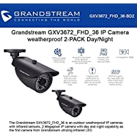 Grandstream GXV3672_FHD_36 BUNDLE of 2 Outdoor IP Camera 3.1MP 3.6mm PoE