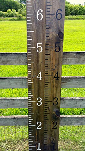 - CELYCASY Growth Chart Ruler Wooden Growth Chart Kids Growth Chart Hand Painted Homemade Giant rulers Measuring Sticks Kids Nursery