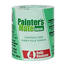 "Painter's Mate 684275 8-Day Painting Tape, 1.41""x 60 yd, Green (4-Pack)"