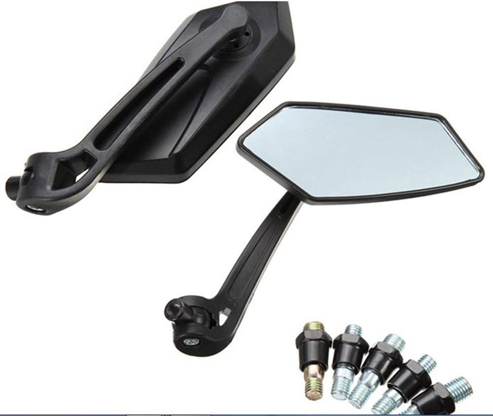 Fliyeong Motorcycle Modified Rearview Mirror Blind Spot Mirror Motorcycle Wide Angle Back Blind Mirror Motorcycle Accessories 2 Pcs Creative and Useful