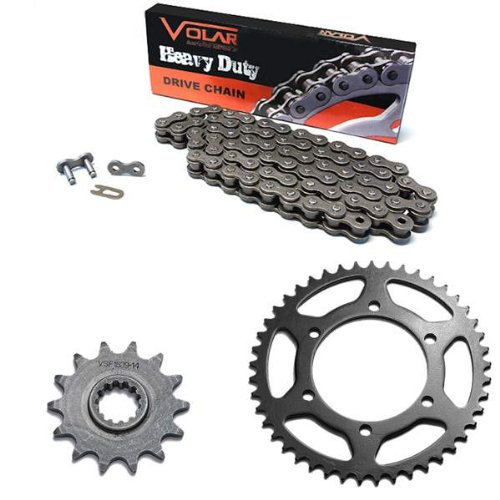 Ex250 Sprocket (2008-2012 Kawasaki Ninja 250R EX250 Chain and Sprocket Kit Heavy)