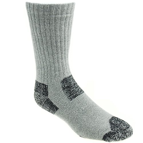 Working Person's 8766 Grey 4-Pack Steel Toe Crew Socks - Made In The USA (Large) by The Working Person's Store (Image #1)'