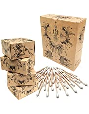 Nature Nerds - wattenstaafjes (800 stuks) gemaakt van bamboe en biologisch katoen, plasticvrij & duurzaam, oorreiniger, Q-tips