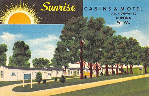Used, Aurora West Virginia Sunrise Cabins And Motel Antique for sale  Delivered anywhere in USA