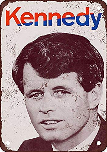 Kennedy Campaign Iron Poster Painting Tin Sign Vintage Wall Decor for Cafe Bar Pub Home Beer Decoration Crafts Retro Vintage Sign mengliangpu8190 Metal Sign 8 x 12 Aluminum Sign 1968 Robert F Plaques