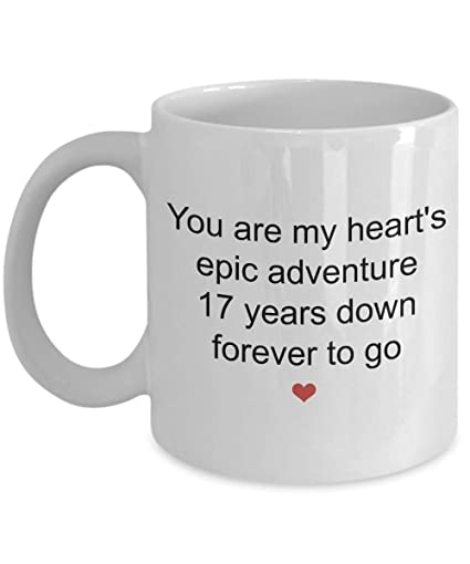 Image Unavailable. Image not available for. Color: 17th Anniversary Gifts For Men ...