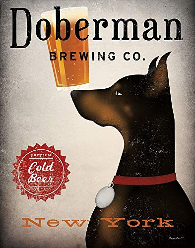 Posterazzi Collection Doberman Brewing Company NY Poster Print by Ryan Fowler (14 x 11) (Ny Doberman)