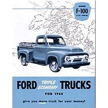 1954 Ford F100 Truck Sales Brochure Literature Book
