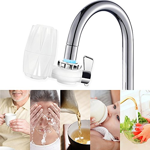Faucet Water Filter,Tap Water Purifier Filter with 7 size Faucet interface for Kitchen And Bathroom Sink, Carbon Filter with 0.01 Micron 7 Stage Filtration Ceramics Filter Lasts 3-6 Months by Tongtu (Image #3)