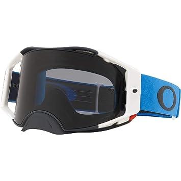 509ddf9f9e Amazon.com  Oakley Airbrake MX Adult Off-Road Motorcycle Goggles - Blue  Gunmetal Dark Grey  Clothing