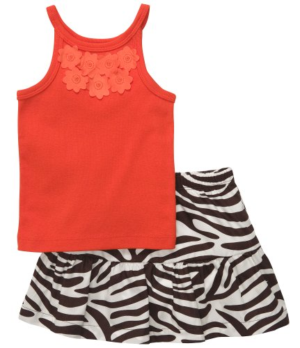 Carter's Infant Skort Set - Orange-12 - Carters Set Skort
