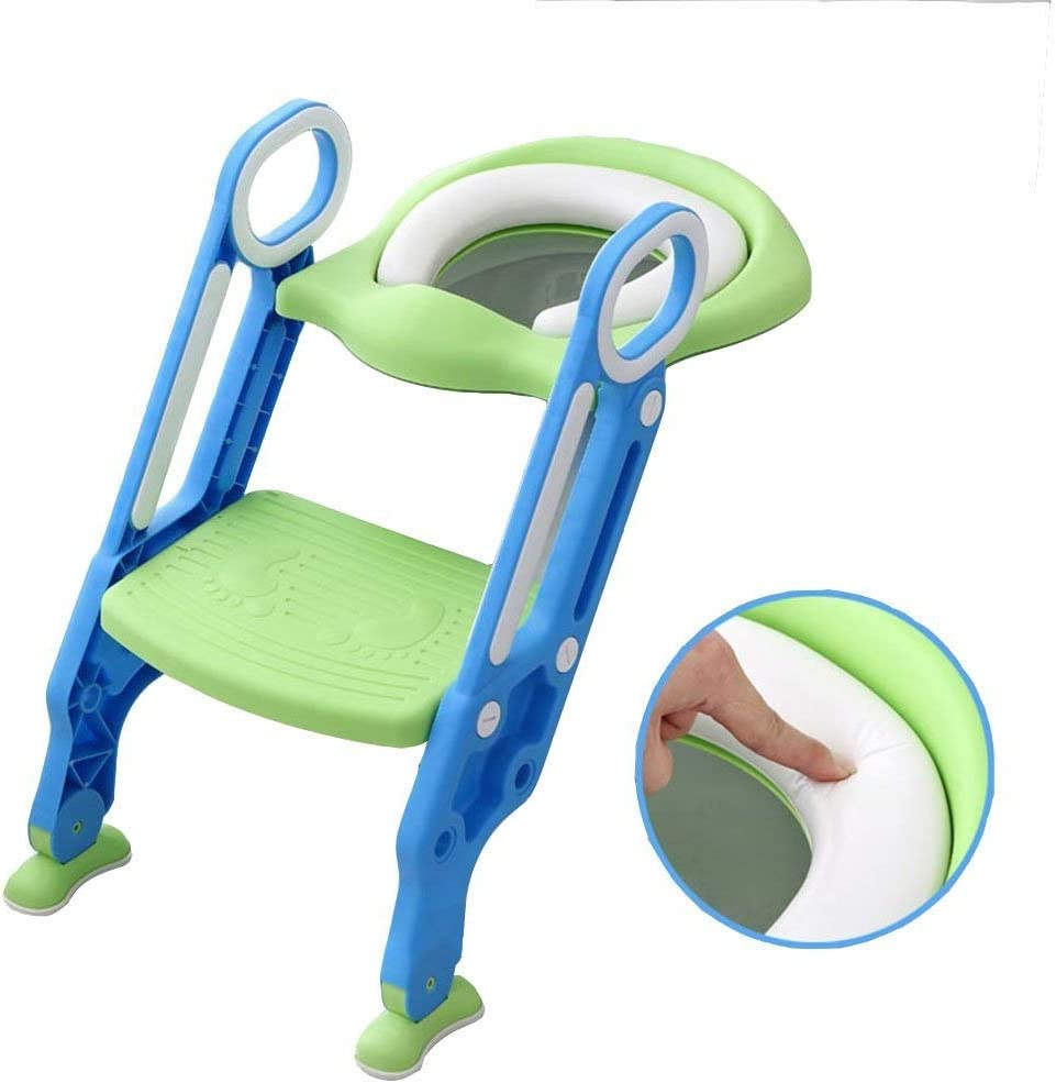 Azul Seguro y C/ómodo con Funci/ón Antideslizante Ergon/ómico BAMNY Reductor de WC para Ni/ños