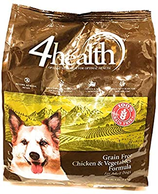 4health Tractor Supply Company Grain Free Adult Dog Food, Chicken & Vegetables Formula, 4 lb Bag from Tractor Supply Company