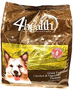 4health Tractor Supply Company Grain Free Adult Dog Food, Chicken & Vegetables Formula, 4 lb Bag