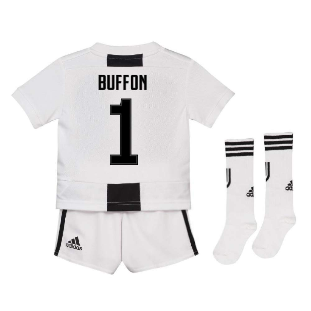 UKSoccershop 2018-19 Juventus Home Mini Kit (Gianluigi Buffon 1)