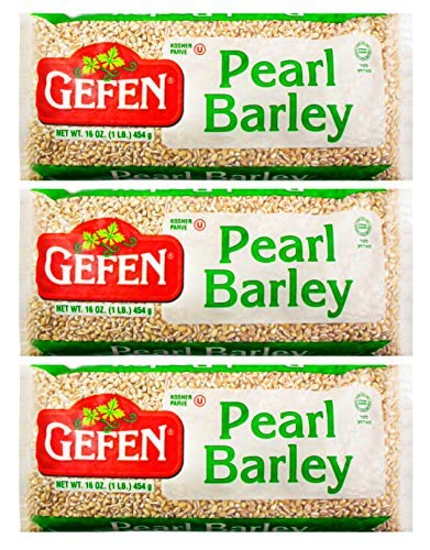 Gefen Pearl Barley 16oz (3 Pack) Total of 3 Pounds, Premium Quality Pearled Barley, Product of The USA