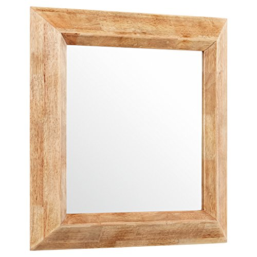 Stone & Beam Square Rustic Wood Frame Mirror, 25.75'' H, Natural by Stone & Beam (Image #4)