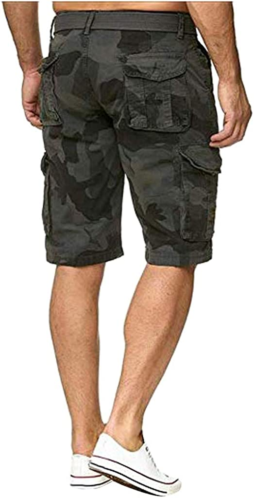 All Year Popular Button Camouflage Cotton Multi-Pocket Overalls Fashion Pants OMINA Cargo Shorts for Men