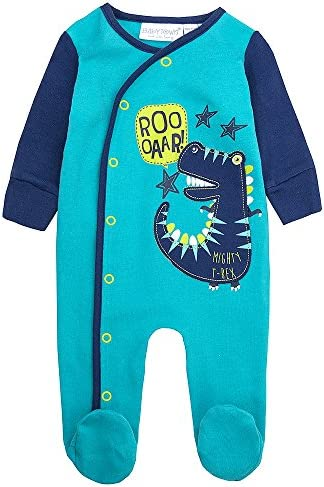 2 Piece Babygrow Cradle Cap Bundle Up to 1 Month White Babytown Baby Boys Cars Sleepsuit Set Blue