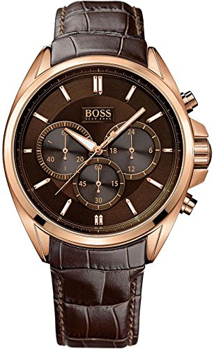 Hugo Boss 1513036 Men's Chronograph Croc-Embossed Leather Strap Driver, Watch
