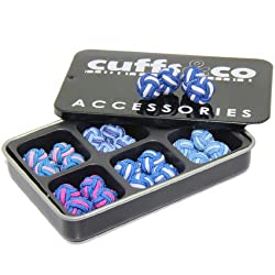 Blue Twist Silk Knot Cufflinks Gift Set | Cuffs & Co
