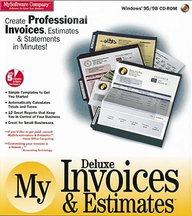 my deluxe invoices estimates amazon ca software