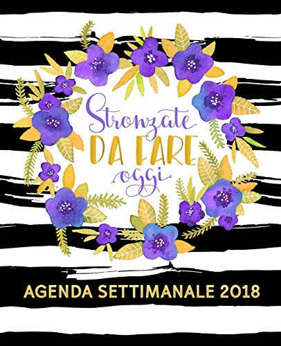 Stronzate Da Fare Oggi: Agenda Settimanale 2018 Italiano: 19x23cm
