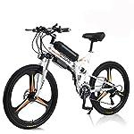 """Hyuhome Bici Elettrica Per Uomini Adulti Donne, 26"""" E-Bike Pieghevole 250W / 350W 36V 10A 18650 Batteria Agli Ioni Di Litio in Montagna Con Sistema Di Trasmissione Shimano A 21 Velocità"""