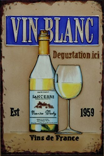 Les Vins Blancs - 'Vin Blanc' by Martin Wiscombe, 8x12, Decorative Ceramic Tile by Fiesta Studios