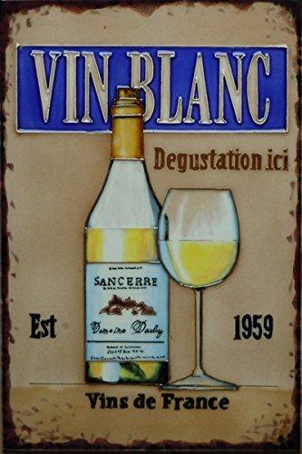 'Vin Blanc' by Martin Wiscombe, 8x12, Decorative Ceramic Tile by Fiesta Studios