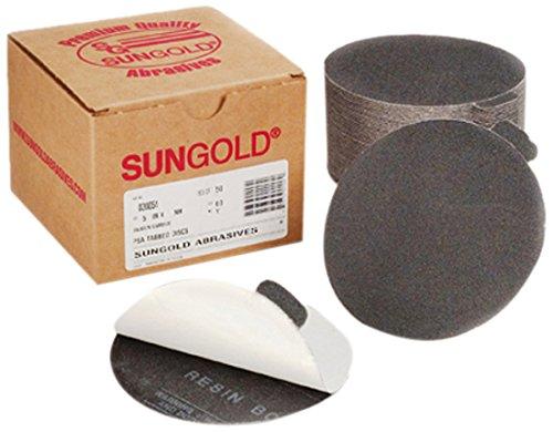 Karebac 85648 PSA Silicon Carbide Cloth 120 Grit Sanding Discs for Glass 100//Box 5 5