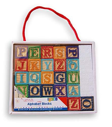 Mini Wooden Double-Sided Alphabet Blocks - 26 - Horizon Block