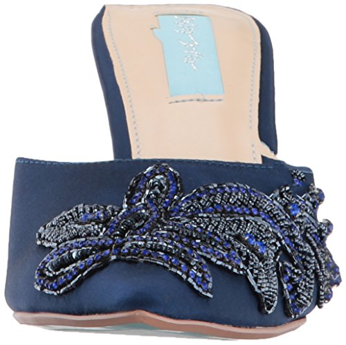 Blue Av Betsey Johnson Womens Sb-coset Mule Navy Satin