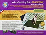 Pooch Pads PG16P24PSHS Indoor Turf Dog Potty PRO System Connectable Pad, Grass, Hike Shield with 2 Wall Pads
