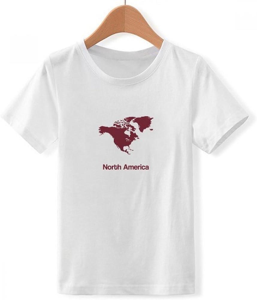 DIYthinker De américa del Norte Mapa del Continente Silueta con ...