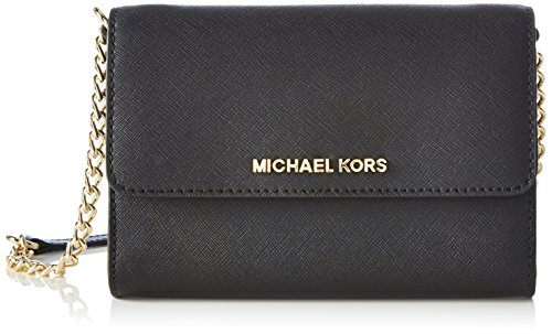 MICHAEL Michael Kors Women's Jet Set Large Phone Cross Body Bag, Black, One Size
