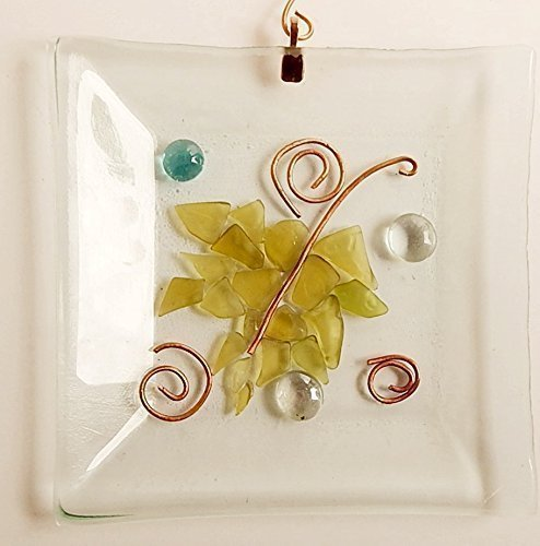 mosaic-suncatcher-window-art-stained-glass-leaf-design-recycled-art